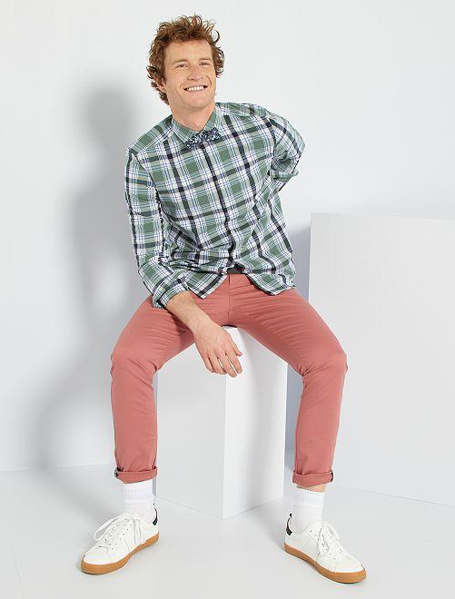 Chemise à carreaux                                                     vert/bleu