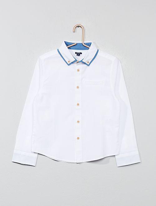 Chemise à double col                                         blanc Garçon