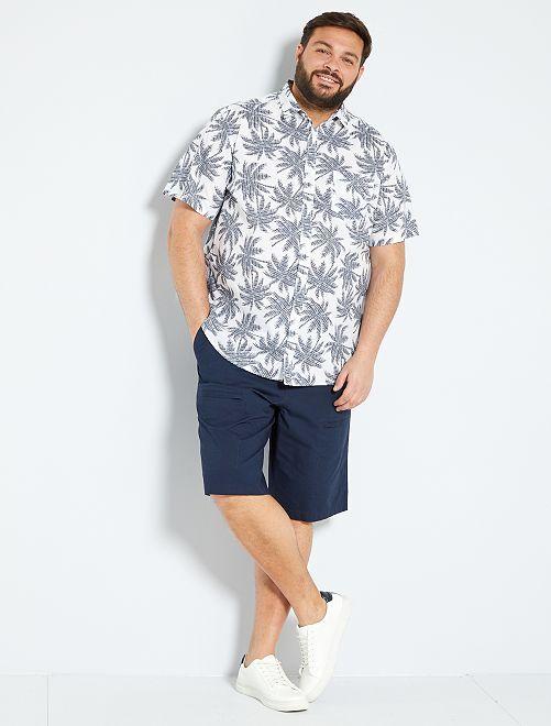 Chemise à fleurs                                                                                                                             blanc palmier