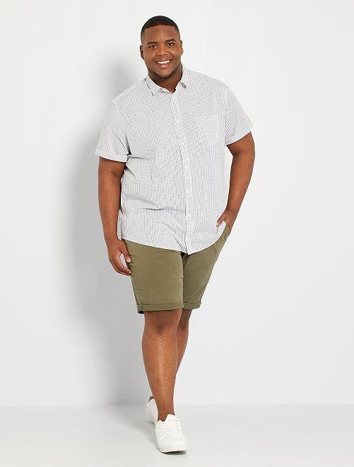 Chemise à fleurs                                                                                                                                                     blanc/carreaux