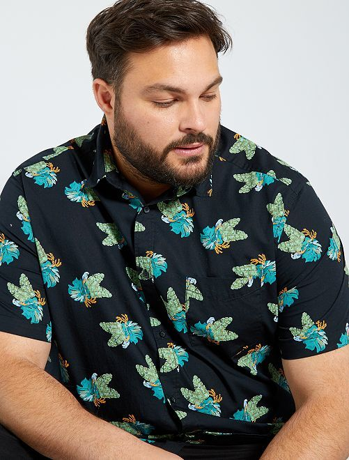 Chemise à fleurs                                                                                                                             noir tropical