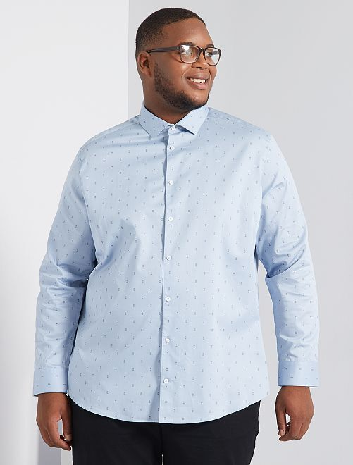 Chemise à micro motif                                         bleu gris
