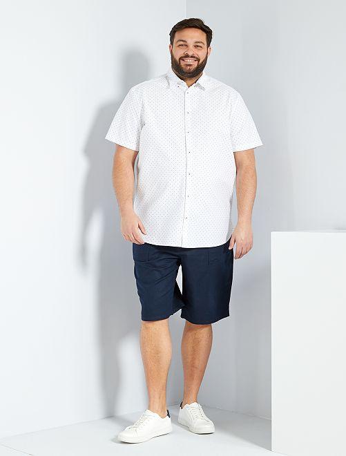 Chemise à pois                             blanc
