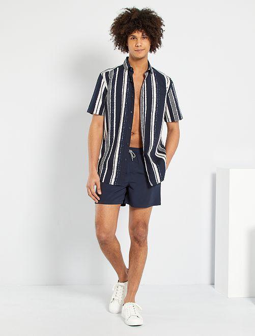 Chemise à rayures                                                                                                                                                                                                                                                                             bleu marine/blanc/rayures