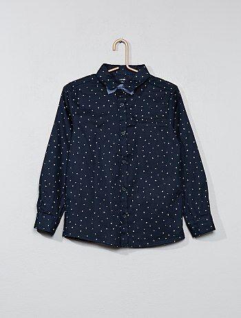 Chemise avec motifs et nœud papillon - Kiabi