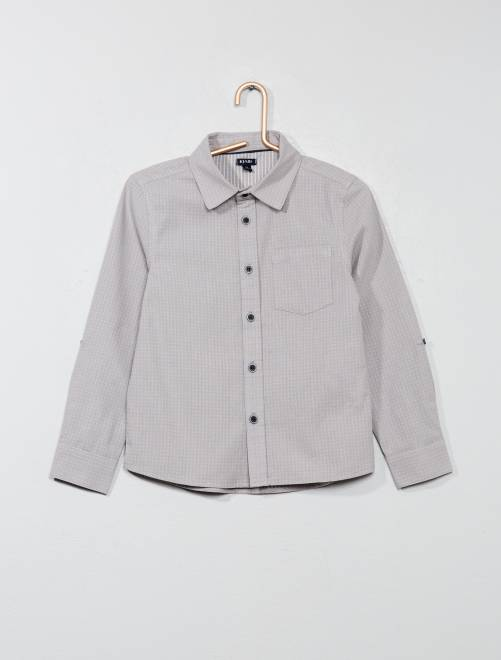 Chemise avec motifs                                         gris clair Garçon