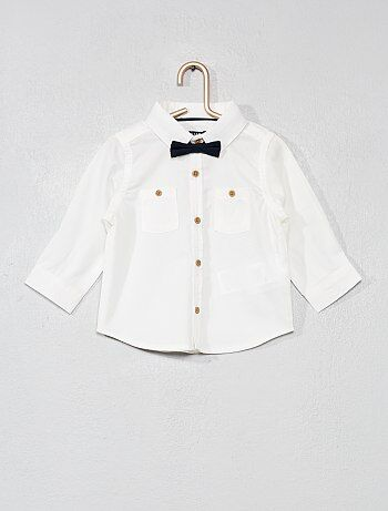 Chemise avec nœud papillon - Kiabi