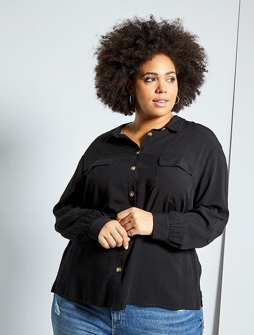 Chemise avec poches plaquées                                         noir