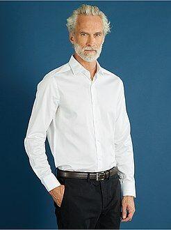 Homme du S au XXL Chemise blanche ajustée