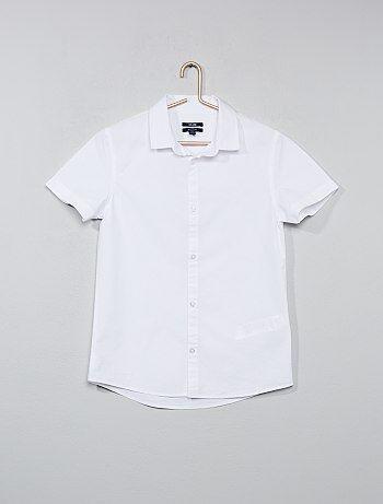 Chemise blanche en popeline - Kiabi
