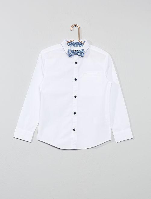 Chemise blanche + nœud papillon                             blanc