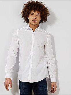 Chemise city - Chemise blanche unie coupe droite