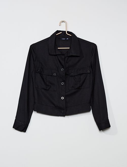 Chemise cargo                                         noir
