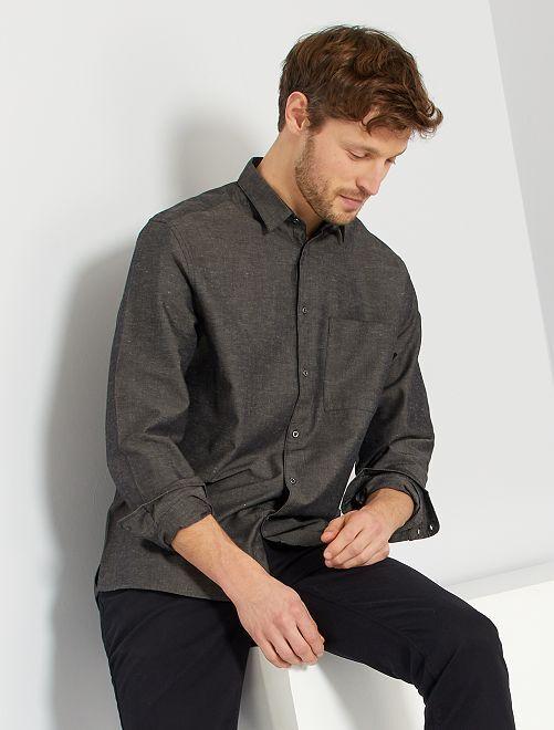 Chemise chinée                             gris