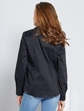 chemise cintr e en popeline stretch femme kiabi 9 00. Black Bedroom Furniture Sets. Home Design Ideas