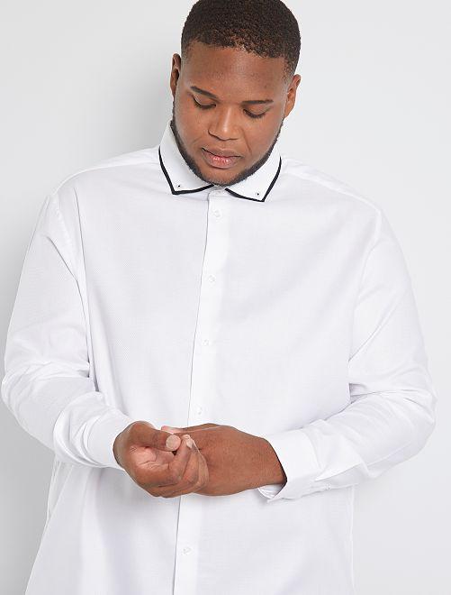 Chemise col fantaisie éco-conçue                             blanc