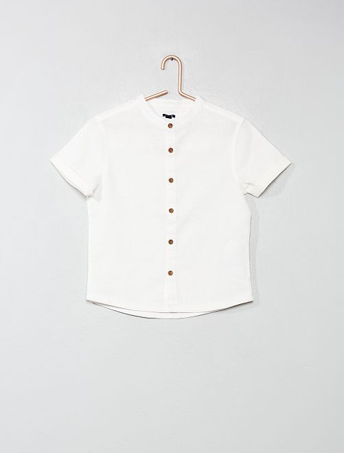 Chemise col mao                     blanc