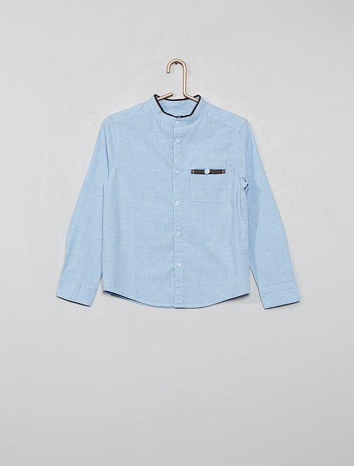 Chemise col mao                             bleu