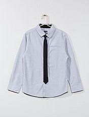 Chemise coton + cravate