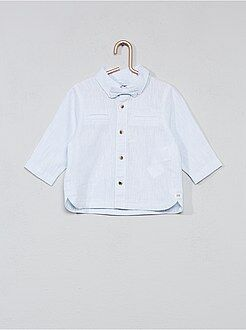 Chemise, blouse - Chemise coton et lin + nœud papillon - Kiabi