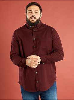 Grande taille homme Chemise coupe droite coton ribstop