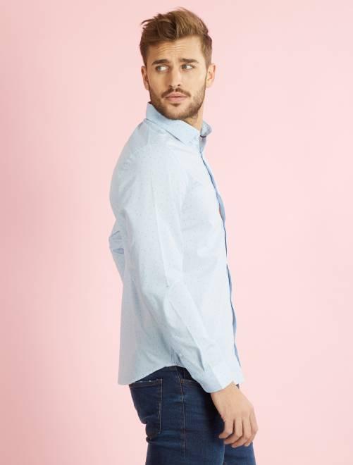 Chemise coupe droite en popeline homme kiabi 12 00 - Chemise coupe droite homme ...