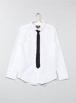 Chemise - Chemise + cravate - Kiabi