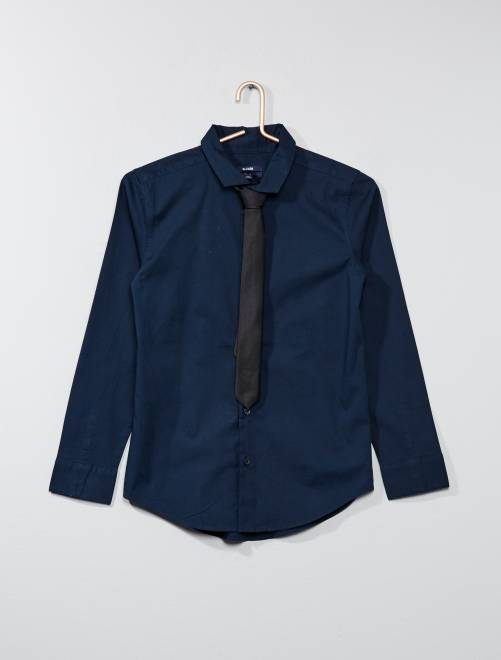 Bleu Cravate Chemise 7 Kiabi 50€ Adolescent Garçon PtdqP0wxT