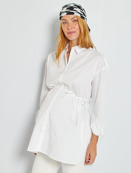 Chemise de maternité                     blanc
