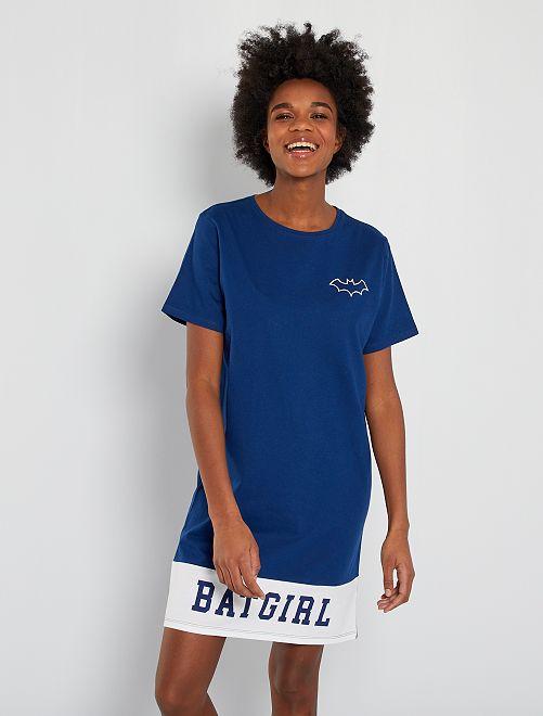 Chemise de nuit 'Batgirl' 'DC Comics'                             bleu