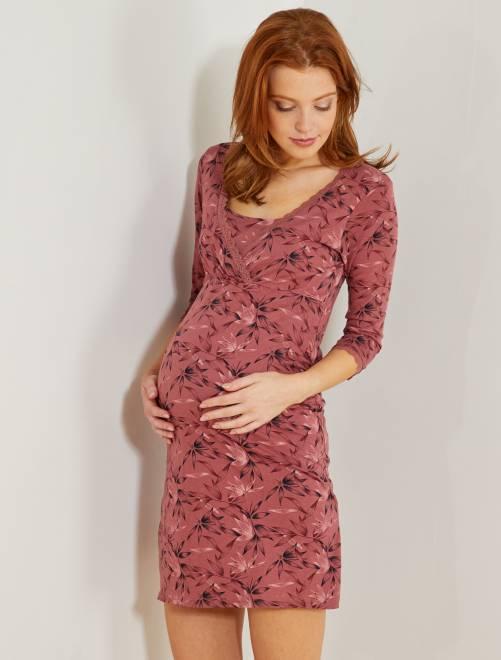 Chemise de nuit de maternité                                         rose Femme