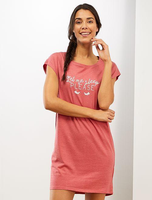 Chemise de nuit éco-conçue                                                                                         rose