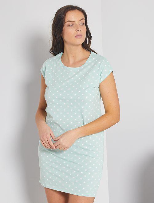 Chemise de nuit éco-conçue                                                                                         turquoise