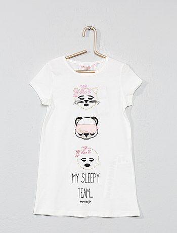 b7147fafa Chemise de nuit Vêtements fille | blanc | Kiabi