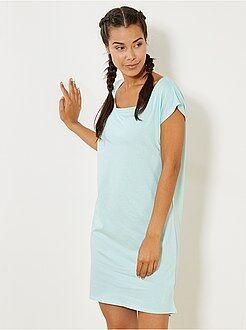 Chemise de nuit en coton - Kiabi