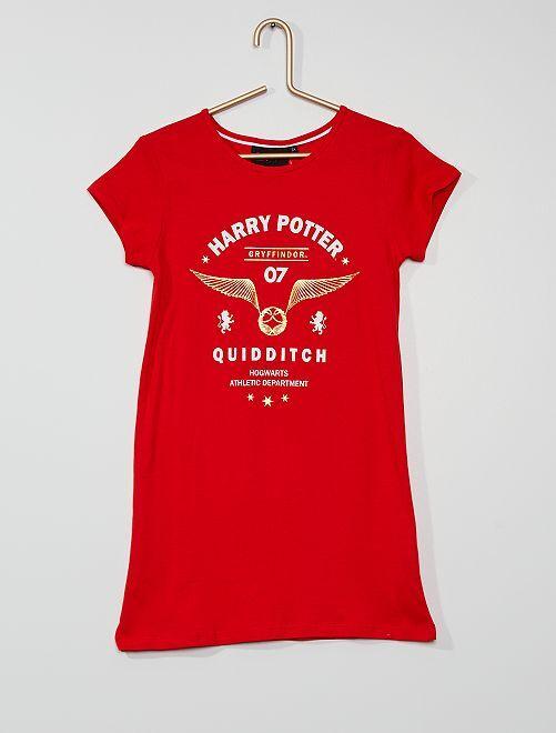 Chemise de nuit 'Harry Potter'                             rouge
