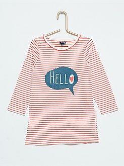 Chemise de nuit imprimé 'hello'