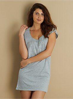 Pyjama, nuisette - Chemise de nuit imprimée en coton