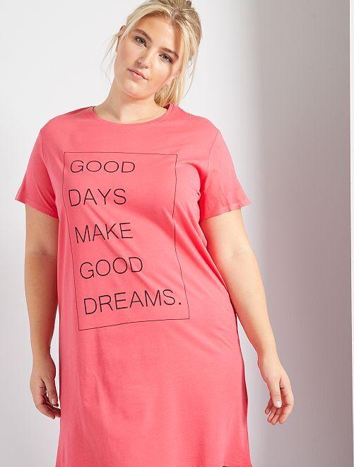 Chemise de nuit imprimée                                         rose
