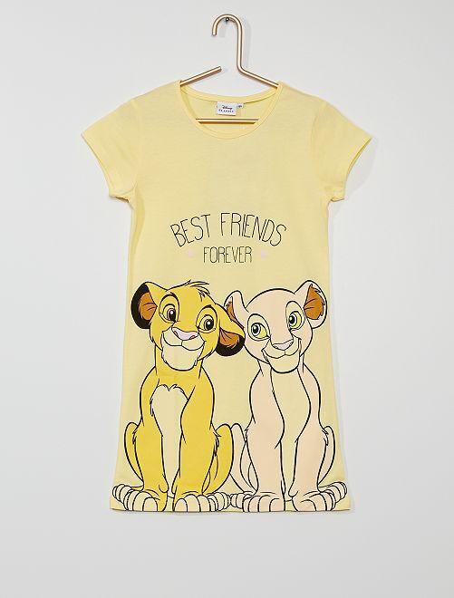 Chemise de nuit 'Le Roi Lion'                             jaune