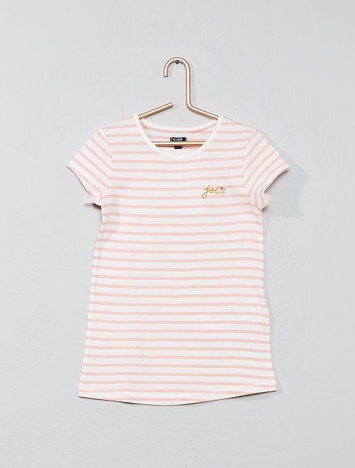 Chemise de nuit marinière                                         rose Fille