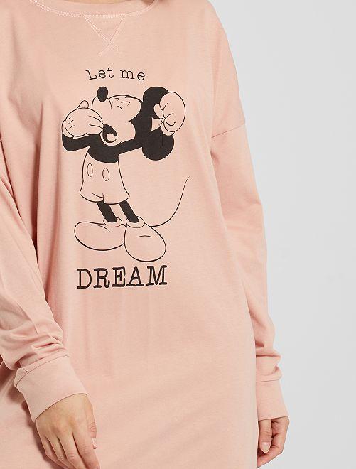 Chemise de nuit 'Mickey' éco-conçue                                                     rose