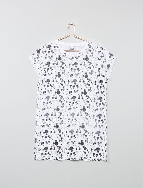 Chemise de nuit 'Mickey & Minnie'                                         blanc/minnie Fille adolescente