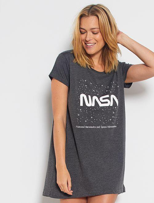 Chemise de nuit 'N.A.S.A.'                                         gris anthracite
