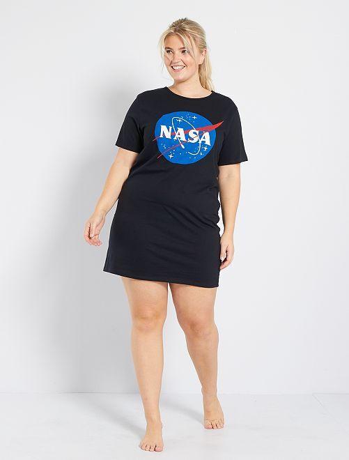 Chemise de nuit 'NASA'                             noir