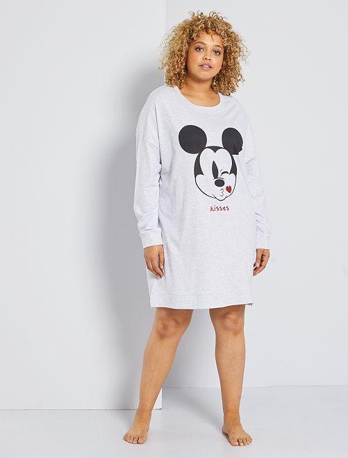 Chemise de nuit sweat 'Bambi'                     gris/mickey