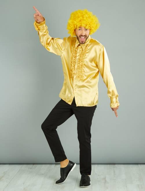 Chemise disco satinée                                                                 doré