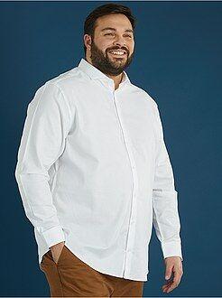 Chemise droite en coton piqué - Kiabi