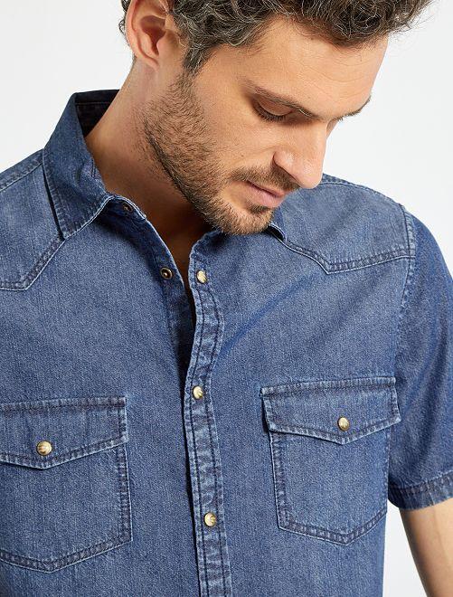 Chemise droite jean brut                                         brut