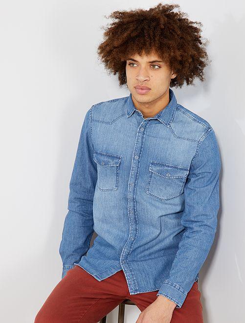 Chemise droite jean stone                             stone